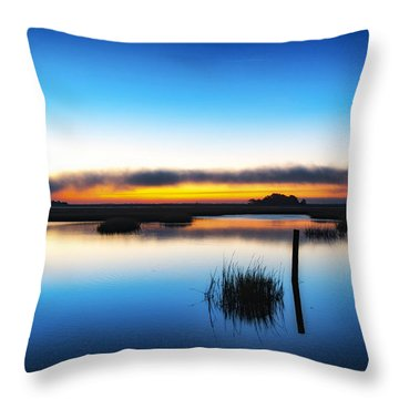 Throw Pillow featuring the photograph 7 Am E.s.t. - Sunrise Sunset Image Art  by Jo Ann Tomaselli