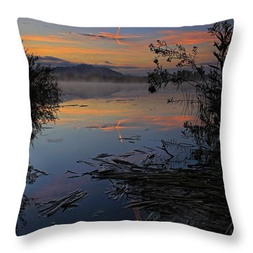 Sunrise Tranquility Throw Pillow by Sue Cullumber