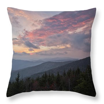 Sunset At Clingman's Dome Throw Pillow