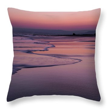 Sunset At Exmouth Throw Pillow
