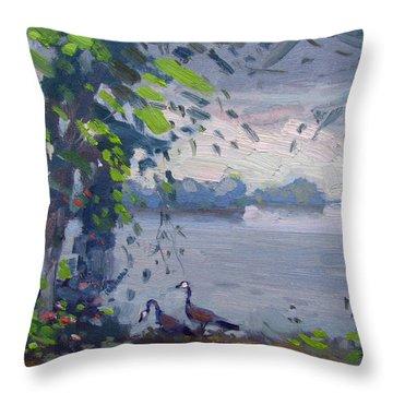 Sunset At Goat Island Throw Pillow