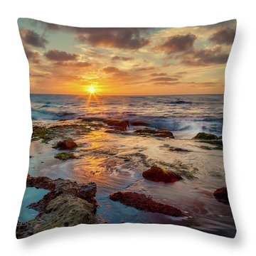 Throw Pillow featuring the photograph Sunset At La Jolla  by Rikk Flohr