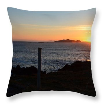 Throw Pillow featuring the photograph Sunset Back West by Barbara Walsh