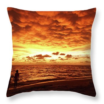 Throw Pillow featuring the photograph Sunset Before The Storm by Melanie Moraga