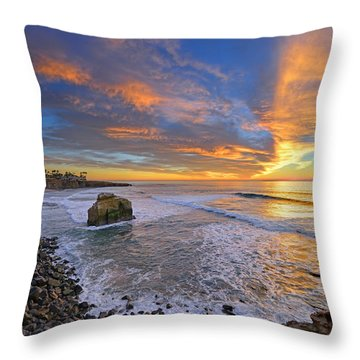Sunset Cliffs Throw Pillow