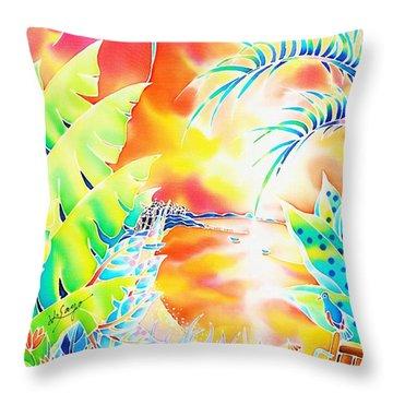 Sunset Cocktail Throw Pillow