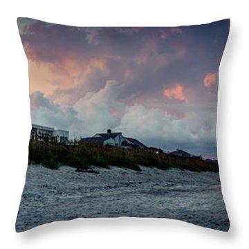 Sunset Emerald Isle Crystal Coast Throw Pillow