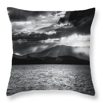 Throw Pillow featuring the photograph Sunset by Hayato Matsumoto