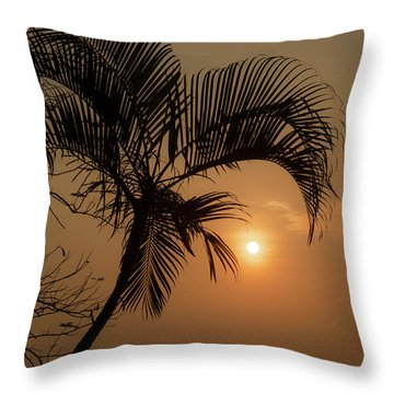 sunset Huong river Throw Pillow