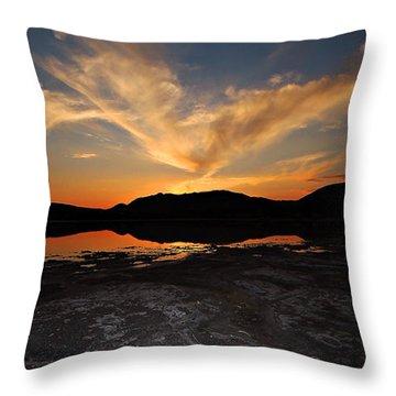 Sunset In Sardinia Throw Pillow