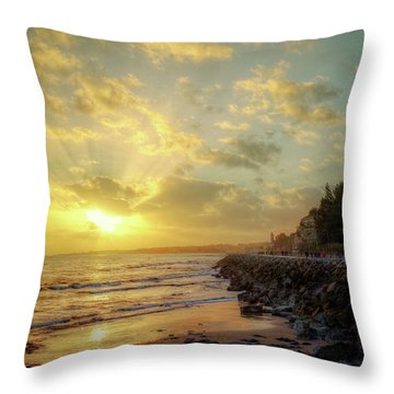 Throw Pillow featuring the photograph Sunset In The Coast by Carlos Caetano