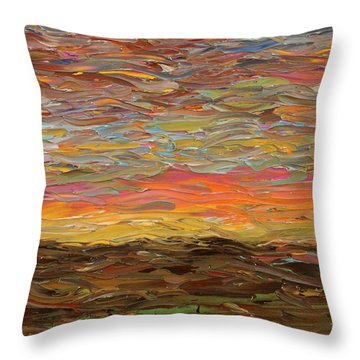 Sunset Throw Pillow by James W Johnson