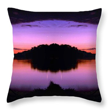 Sunset Kiss Throw Pillow by Sue Stefanowicz