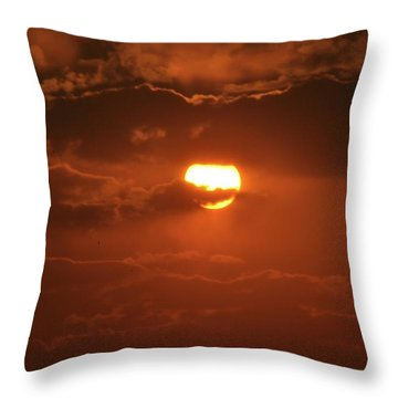 Sunset Throw Pillow by Linda Ferreira