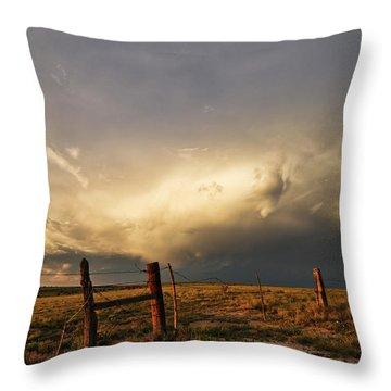 Sunset Near Santa Rosa New Mexico Throw Pillow