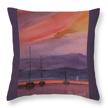 Sunset On Madeline Island Throw Pillow