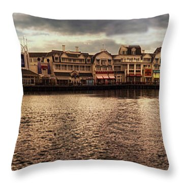 Sunset On The Boardwalk Walt Disney World Mp Throw Pillow