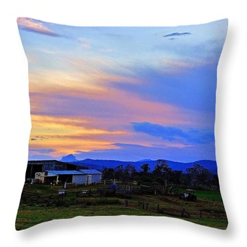 Sunset Over The Great Divide Throw Pillow by Blair Stuart