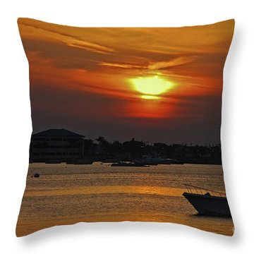Throw Pillow featuring the photograph 1- Sunset Over The Intracoastal by Joseph Keane