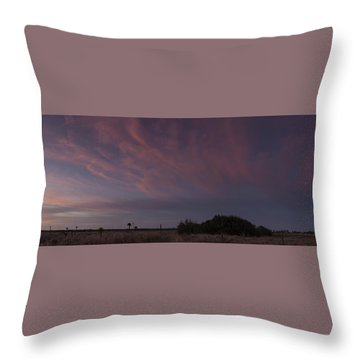 Sunset Over The Wetlands Throw Pillow