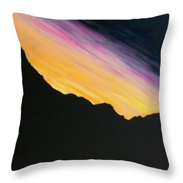 Throw Pillow featuring the painting Sunset Silhouette by Kevin Daly