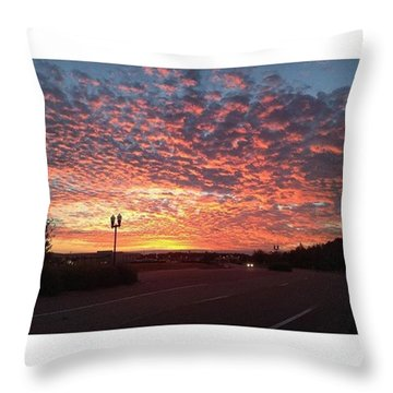 Tampa Sunset Throw Pillow by Janel Cortez