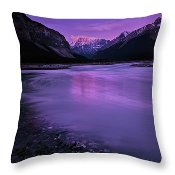 Sunwapta River Throw Pillow