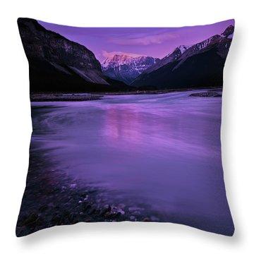 Sunwapta River Throw Pillow
