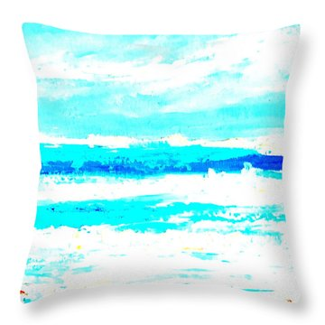 Surf Throw Pillow by Fred Wilson