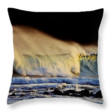 Surfing The Island #2 Throw Pillow by Blair Stuart