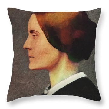 Susan B. Anthony, Suffragette Throw Pillow
