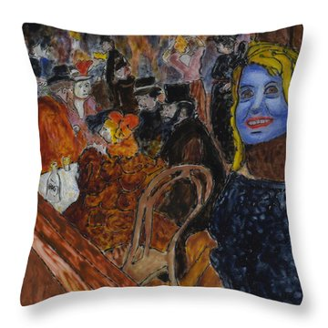 Susan Lautrec Throw Pillow by Phil Strang