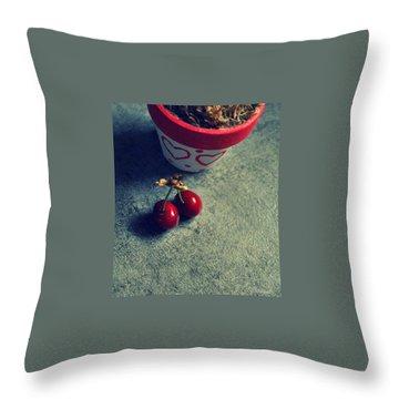 Sweet Couple Throw Pillow by Marija Djedovic