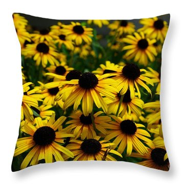 Sweet Flowers Throw Pillow by John S