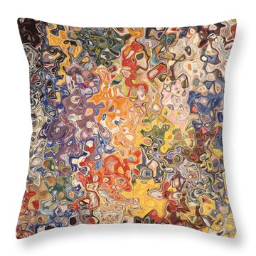 Swirling Around In Muck Throw Pillow