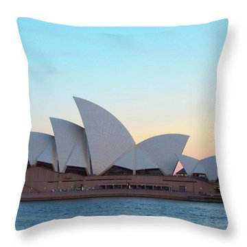 Sydney Opera House At Dusk Throw Pillow