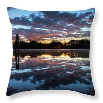 Symetry On The River Throw Pillow