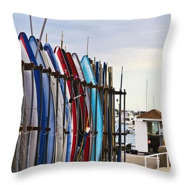 Beach Throw Pillow by Andy Bucaille