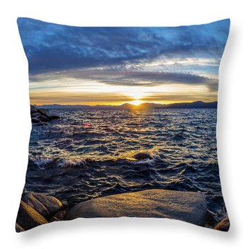 Tahoe Sunset Throw Pillow