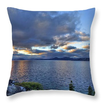 Tahoe Sunset Panorama Throw Pillow