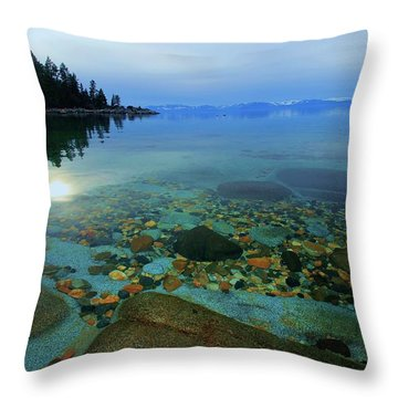 Tahoe Twilight Throw Pillow