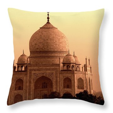 Taj Mahal Throw Pillow by Aidan Moran