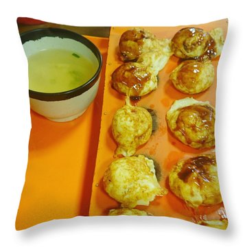 Takoyaki  Throw Pillow