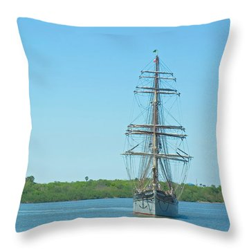 Tall Ship Elissa Throw Pillow