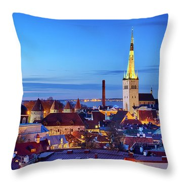 Throw Pillow featuring the photograph Tallinn by Fabrizio Troiani