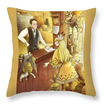 Tammy And The Postmaster Throw Pillow by Reynold Jay
