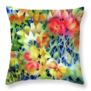 Tangled Blooms Throw Pillow