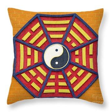 Taoist Octagonal Symbol Throw Pillow