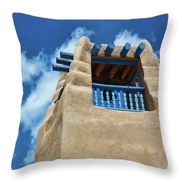 Taos Blue Throw Pillow