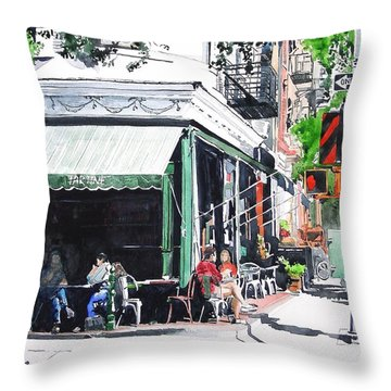 Tartine Throw Pillow by Tom Riggs